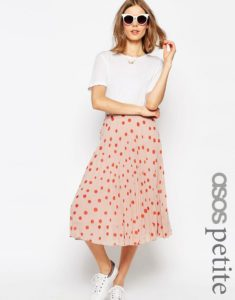 Asos petite polka dot midi skirt