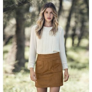 Forever New Alexa A-line Suede Skirt