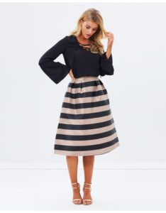 Theiconic Oasis A-line Stripped Skirt
